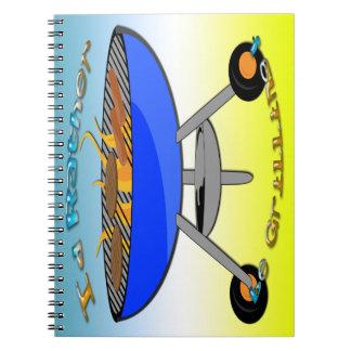 Jag skulle grillar ganska anteckningsboken anteckningsbok med spiral