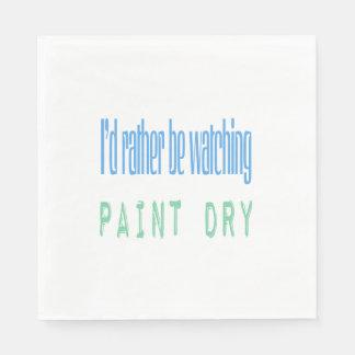 Jag skulle håller ögonen på ganska målar torrt pappersservetter