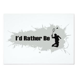 Jag skulle leker ganska Badminton 12,7 X 17,8 Cm Inbjudningskort