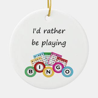 Jag skulle leker ganska bingo julgransprydnad keramik