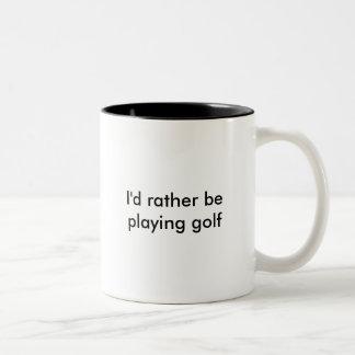 Jag skulle leker ganska golf Två-Tonad mugg