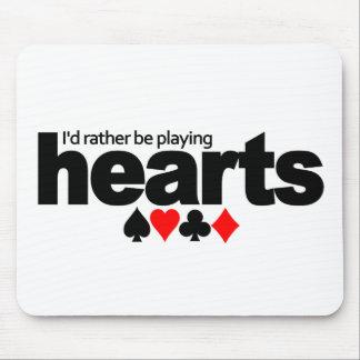 Jag skulle leker ganska hjärtamousepad musmatta