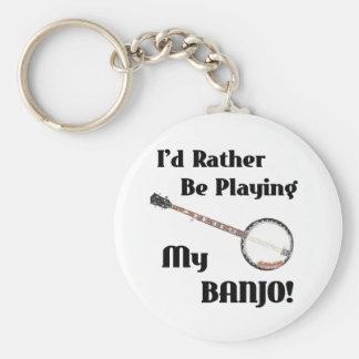 Jag skulle leker ganska min Banjo Rund Nyckelring