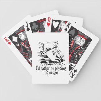 Jag skulle leker ganska mitt organ som leker kort spelkort