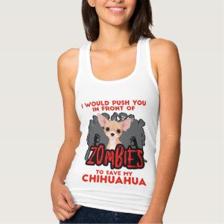 Jag skulle Push dig framme av Zombieschihuahuaen Tröja
