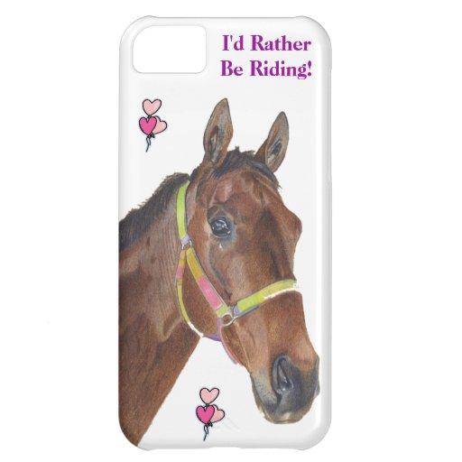 Jag skulle rider ganska! Fodral för hästiPhone 5 iPhone 5C Mobil Fodral