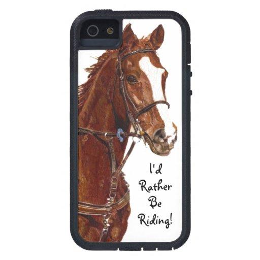Jag skulle rider ganska! HästFodral-Kompis fodral iPhone 5 Case-Mate Skydd