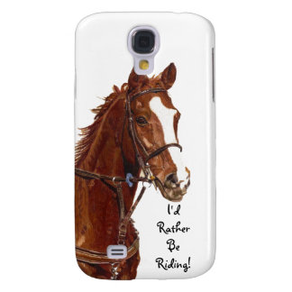 Jag skulle rider ganska! Livligt fodral för häst Galaxy S4 Fodral