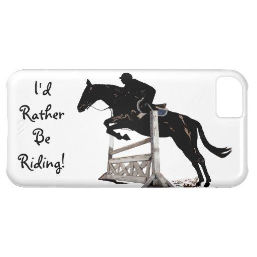 Jag skulle rider ganska! Rid- fodral för iPhone 5 iPhone 5C Skydd