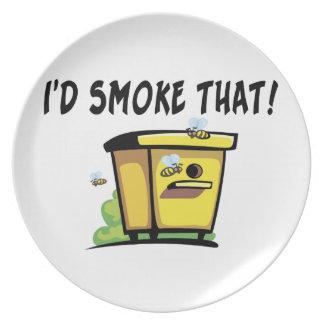 Jag skulle röker den bikupa tallrik