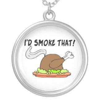Jag skulle röker den Turkiet Silverpläterat Halsband
