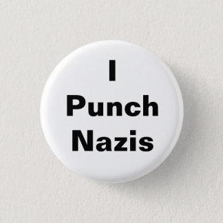 Jag slår Nazis Mini Knapp Rund 3.2 Cm