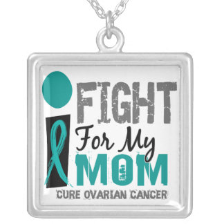 Jag slåss för min Ovarian cancer för mamman Silverpläterat Halsband