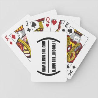 Jag slogs mathen som leker kort spel kort