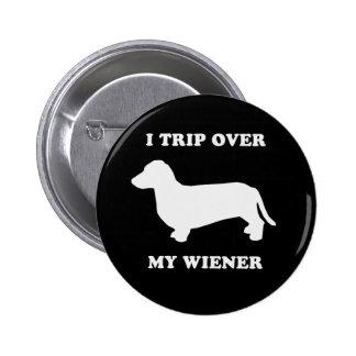 Jag snubblar över min wiener knappar med nål
