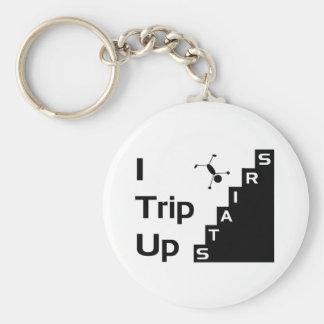 Jag snubblar upp trappor Keychain Nyckelringar