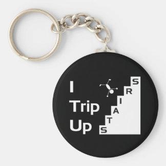 Jag snubblar upp trappor Keychain Rund Nyckelring