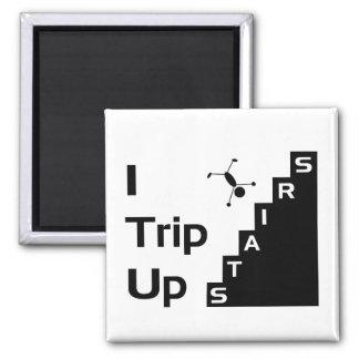 Jag snubblar upp trappormagneten magneter