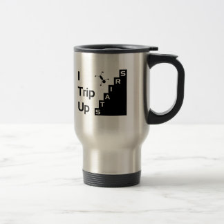 Jag snubblar upp trapportravel mug rostfritt stål resemugg