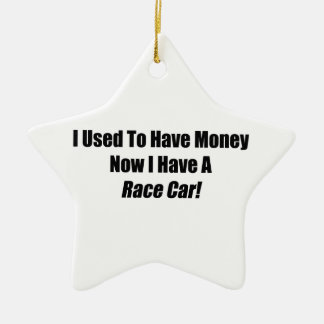 Jag som är van vid, har pengar, nu som jag har en julgransprydnad keramik