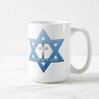 Jag står med davidsstjärnan för den Israel Kaffemugg