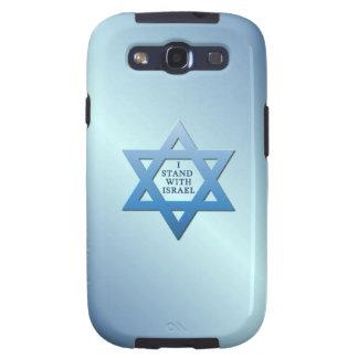 Jag står med den Israel davidsstjärnan på blått Samsung Galaxy S3 Skal