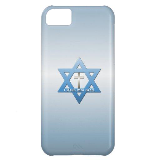 Jag står med den Israel kristenkor iPhone 5C Mobil Fodral