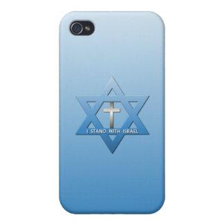 Jag står med den Israel kristenkor iPhone 4 Cases