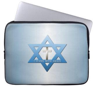 Jag står med den Israel kristenkor Laptopskydd