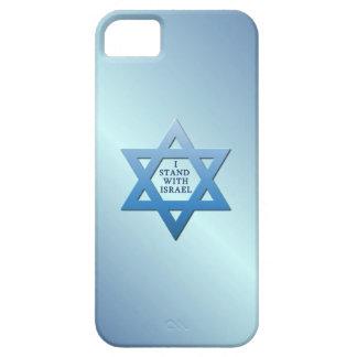 Jag står med Israel den judiska davidsstjärnan på Barely There iPhone 5 Fodral