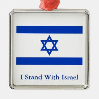 Jag står med Israel Julgransprydnad Metall