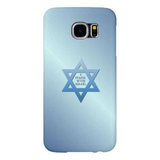 Jag står med Israel med den judiska davidsstjärnan Samsung Galaxy S6 Fodral
