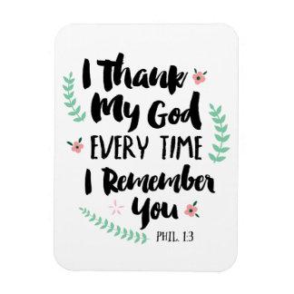 Jag tackar guden varje Time som jag minns dig Magnet