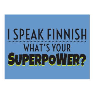 Jag talar finska. Är vad din Superpower? Vykort