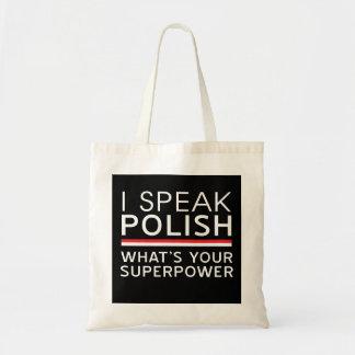 Jag talar polskt vad är din Superpower? Budget Tygkasse