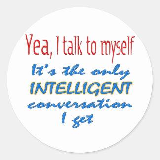 Jag talar till jag själv runt klistermärke