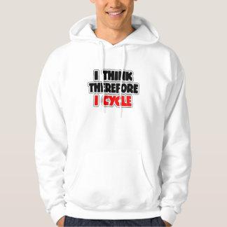 Jag tänker att därför jag cyklar tröja med luva