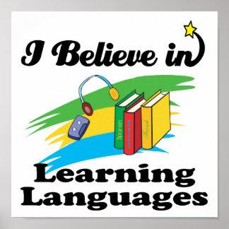 jag tror, i att lära språk poster