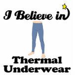 jag tror i termisk underkläder photo sculpture