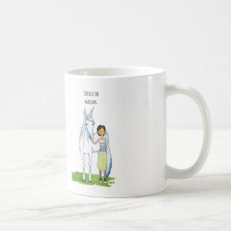 jag tror i unicorns kaffemugg