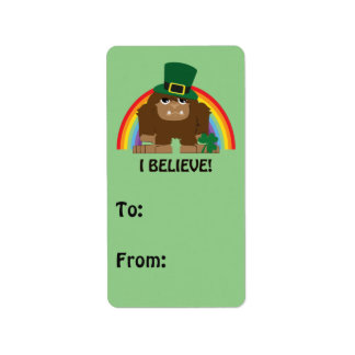Jag tror! Troll Bigfoot Adressetikett
