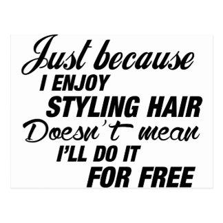 Jag tycker om att utforma hår vykort