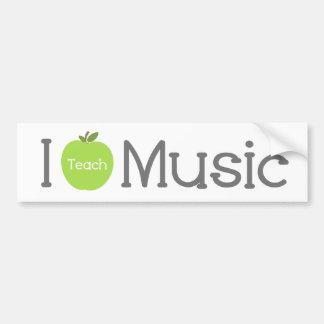 Jag undervisar musik gröna Apple Bildekal