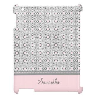 jag vadderar för rosamönster för kortkort grått iPad mobil fodral