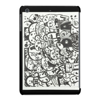 jag vadderar kortkort täcker klotter iPad mini covers