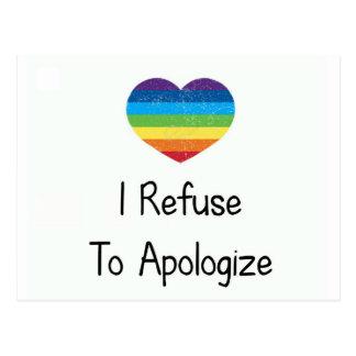 Jag vägrar för att be om ursäkt vykort