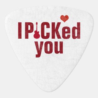 Jag valde dig och att gifta sig kärleksnyggt plektrum