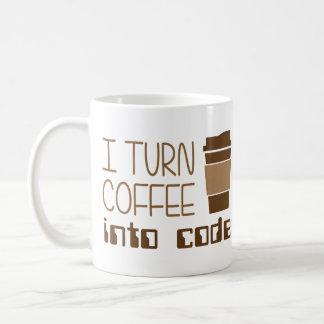 Jag vänder kaffe in i att programmera kodifierar kaffemugg