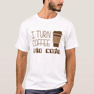 Jag vänder kaffe in i att programmera kodifierar tee shirt