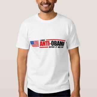 Jag var Anti-Obama, för det var kallt Tee